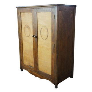 1930s Antique Walnut & Maple Armoire Preview