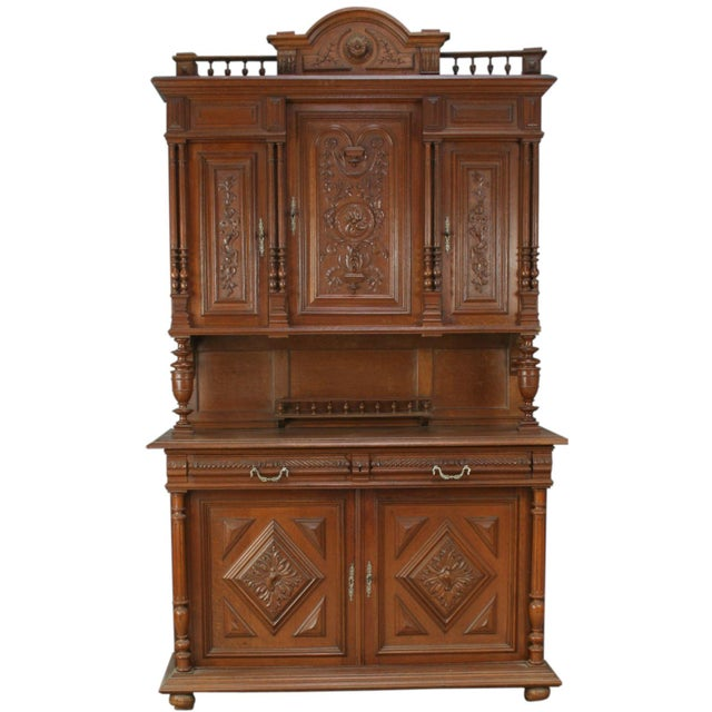Antique French Renaissance Carved Buffet Server For Sale