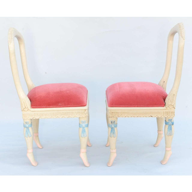Set of Four Ballerina Side Chairs For Sale - Image 4 of 11
