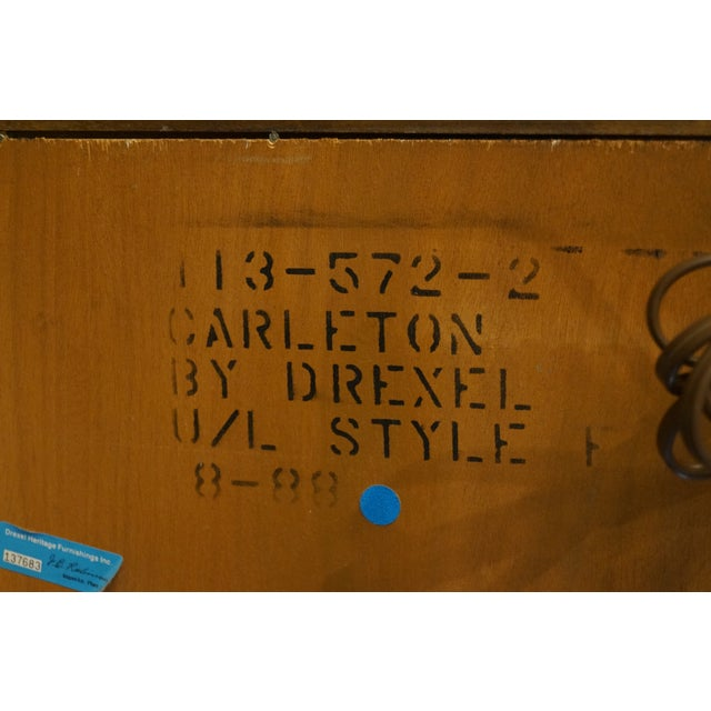 1980s Traditional Drexel Heritage Carleton Cherry Collection Storage Headboard For Sale - Image 11 of 12
