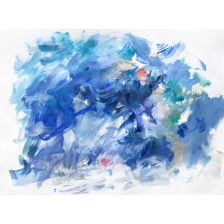 """Yolanda Sanchez """"Sea Changes 6"""" Abstract Oil Painting on Canvas For Sale"""
