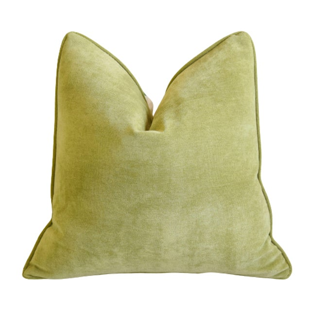 """Early 21st Century Scalamandré Floral De Jardin Chine Feather/Down Pillow 20"""" Square For Sale - Image 5 of 6"""