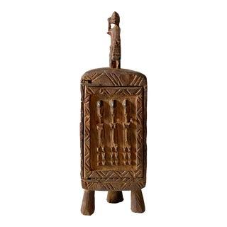 """Dogon Wooden Medicine / Tobacco Box Mali 16"""" H For Sale"""