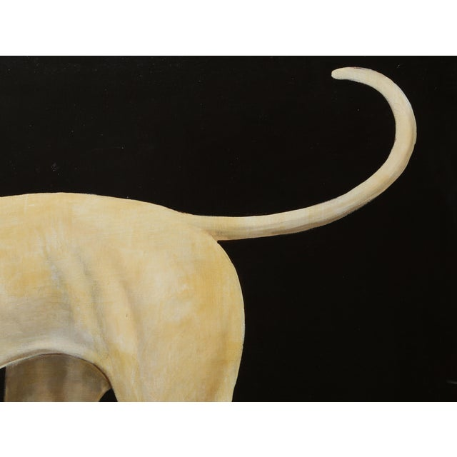 William Skilling William Skilling, Irish Hound Dog, Oil on Canvas, Signed For Sale - Image 4 of 7