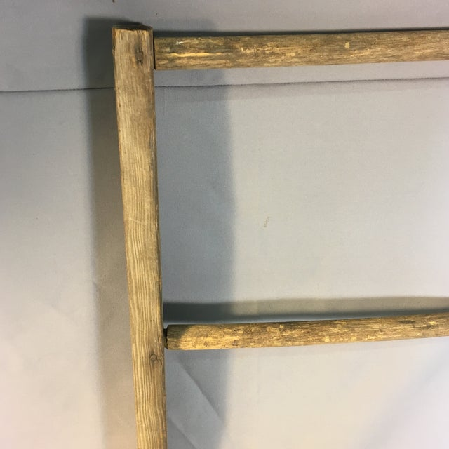 Country Rustic Country Decorative Ladder For Sale - Image 3 of 8