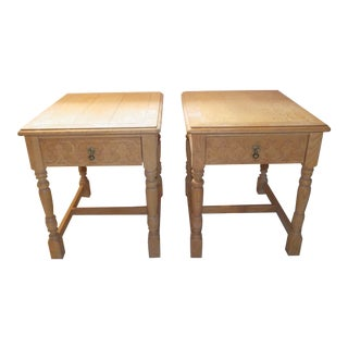 Henredon Rustic Country End Tables - a Pair For Sale