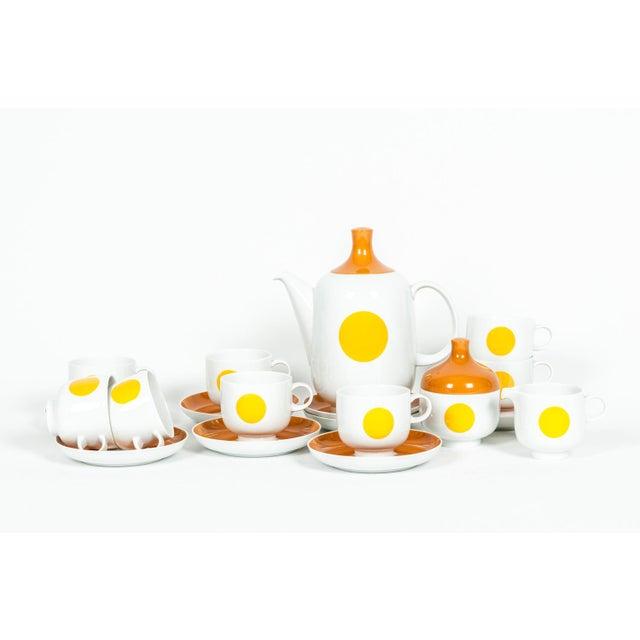 Mid-Century Modern German Tea / Coffee Service - 18 Pc. Set For Sale - Image 9 of 10