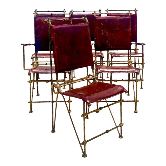Vintage Brutalist Sculpted Rebar Dining Chairs in the Manner of Ilana Goor - Set of 6 For Sale