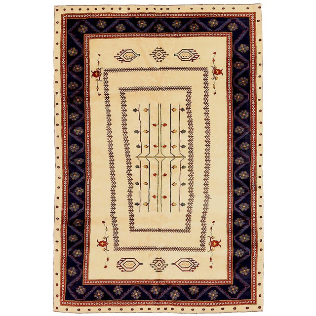 1960s 1960s Persian Area Rug Gabbeh Design For Sale - Image 5 of 5