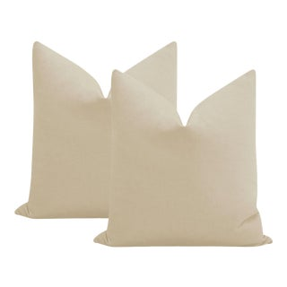 """22"""" Stone Performance Linen Pillows - a Pair For Sale"""