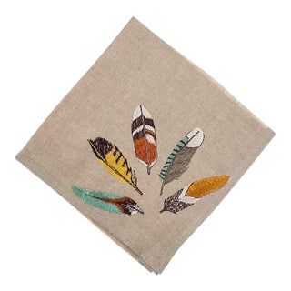 Feather Fan Dinner Napkin For Sale