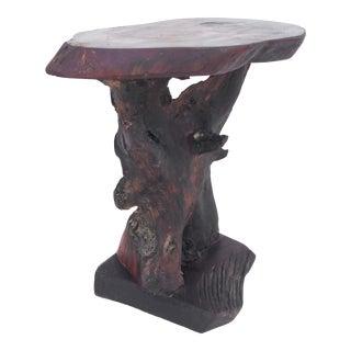 Vintage Tree Slab Side Table or Pedestal For Sale