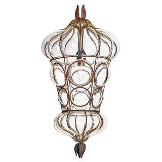Antique Venetian Glass Lantern For Sale