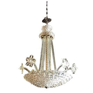 20th Century Murano Glass Pendant Chandelier by Ercole Barovier For Sale