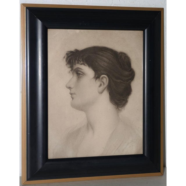 Early 20th Century Graphite Portrait of a Young Woman C.1910 For Sale In San Francisco - Image 6 of 6