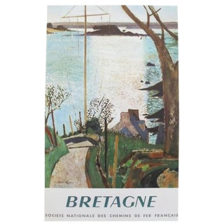 1959 Original French Sncf Railway Poster - Bretagne For Sale