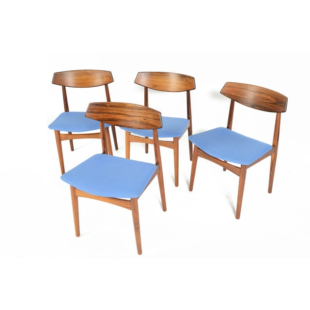 Danish Modern Rosewood Dining Chairs - Set of 4 - Image 3 of 11