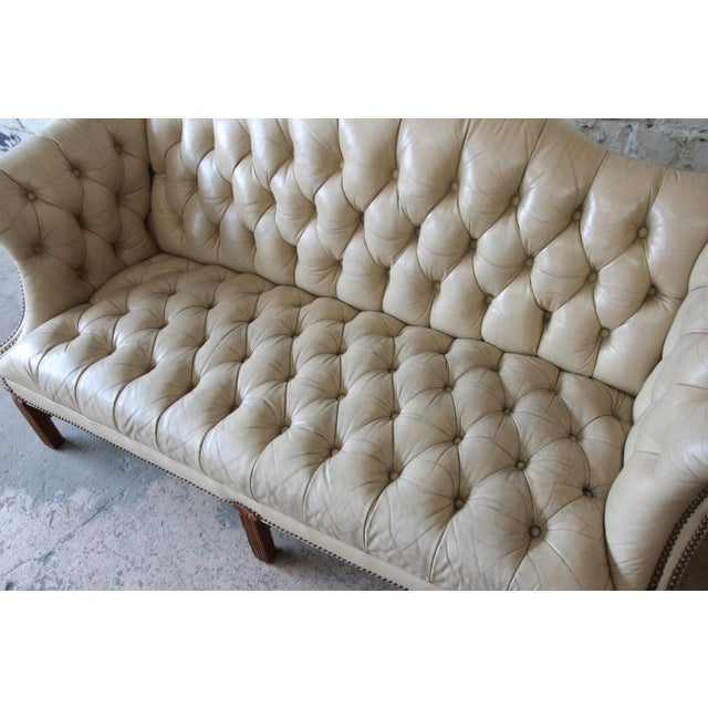 Vintage Tufted Tan Leather Chesterfield Sofa Chairish