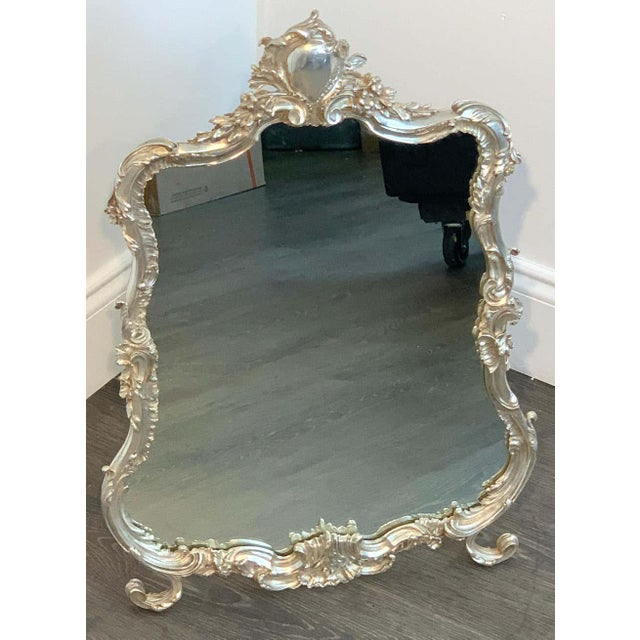 French Silver Plated Dressing Mirror For Sale - Image 11 of 12
