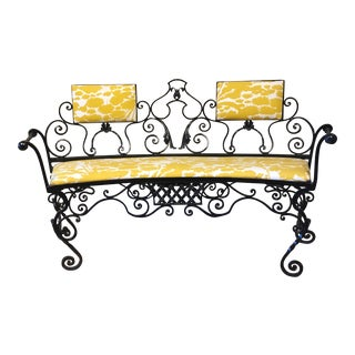 Antique French Iron Bench