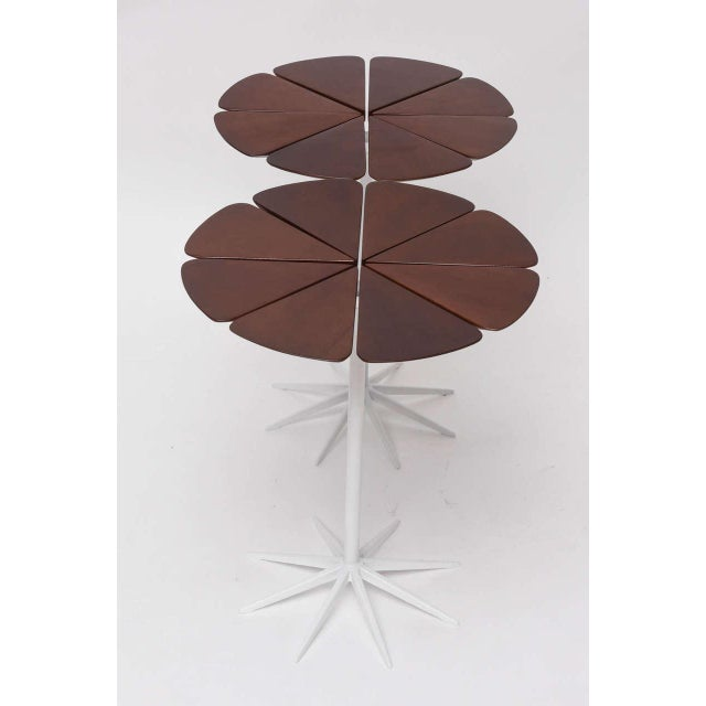 White Pair of Richard Schultz Petal Side Tables For Sale - Image 8 of 10