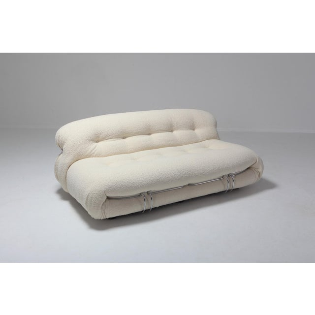 1970s Soriana Two-Seat Sofa by Afra E Tobia Scarpa for Cassina For Sale - Image 5 of 11