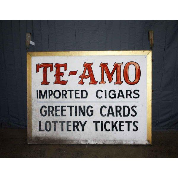 'Te-Amo' Metal Shop Sign For Sale - Image 4 of 4