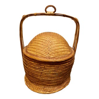 Hand-Weaved Chinese Wedding Basket For Sale
