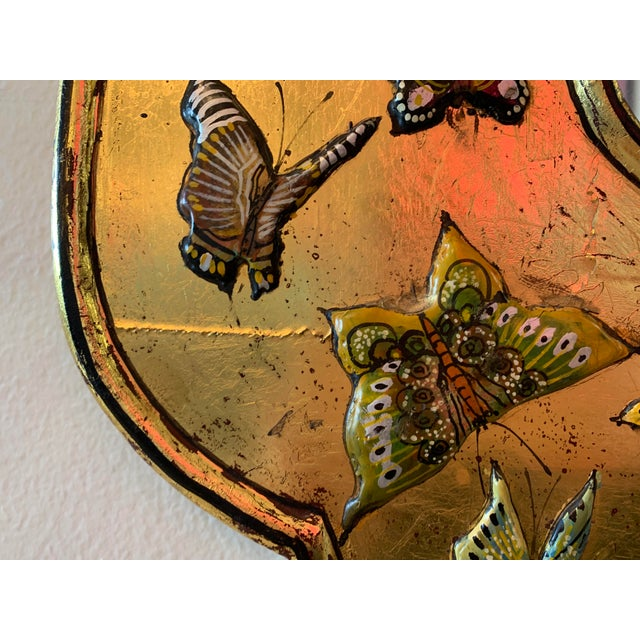 Gold Bohemian Butterfly Wall Mirror For Sale - Image 8 of 13