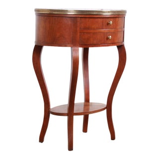 Baker Furniture French Regency Mahogany and Brass Side Table For Sale
