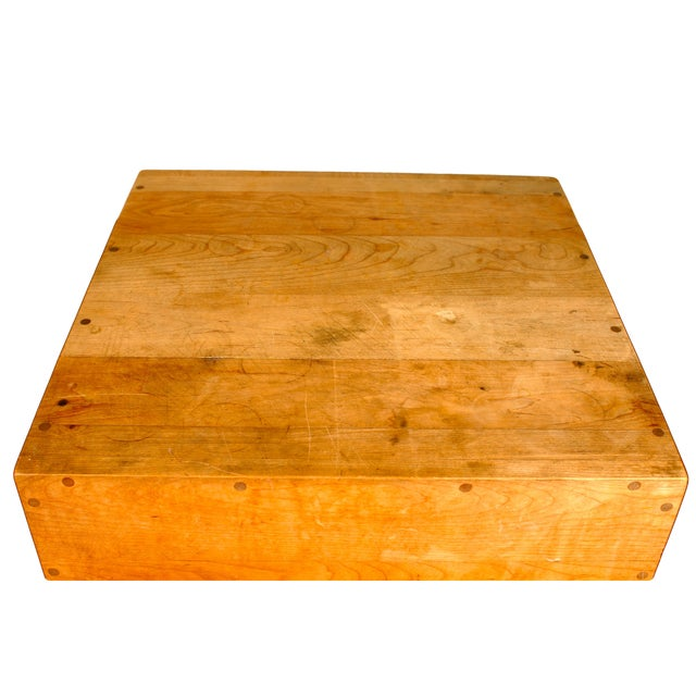 Butcher Block Table with Knife Rack - Image 3 of 5