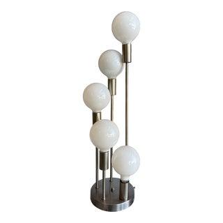 1970s Mid Century Modern Robert Sonneman Waterfall 5-Globe Lamp For Sale