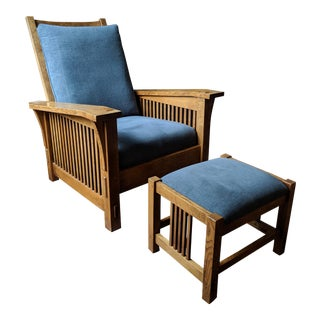 Stickley Morris Chair & Ottoman For Sale