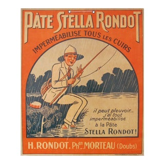 1920s French Fisherman, Pate Stella Rondot Waterproofing Wax For Sale