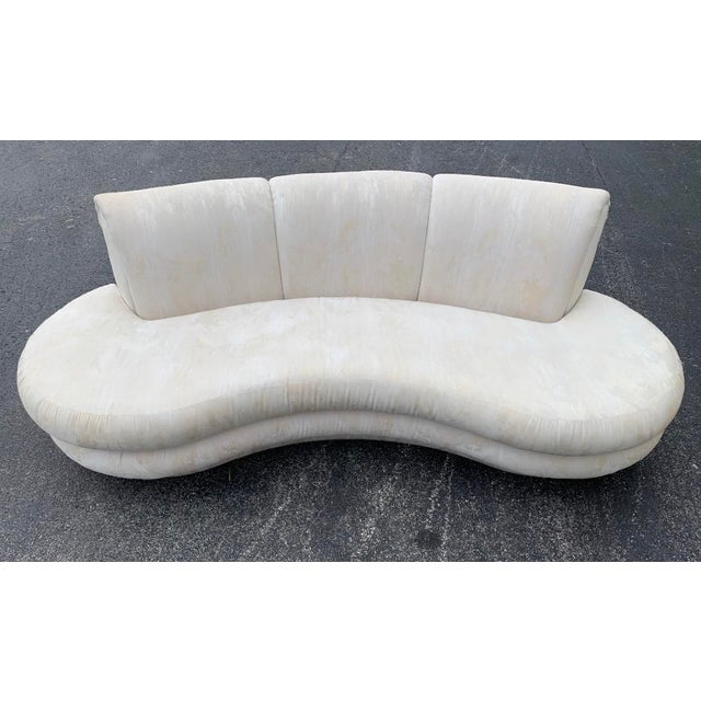 Adrian Pearsall Adrian Pearsall for Comfort Designs Curved Sofa For Sale - Image 4 of 5