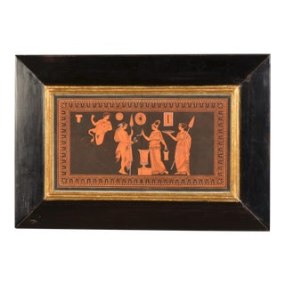 Mid 19th Century Figurative Framed Engraving of Greek Vase Painting by Sir William Hamilton For Sale