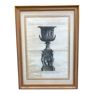 Early 19th Century Grand Tour Neoclassical Engraving Framed For Sale