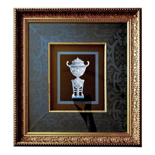 Vintage Decorator Framed Print of a Neoclassical Piranesi Urn For Sale