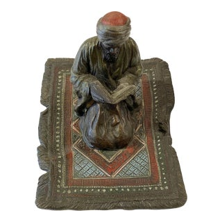 Franz Bergman Austrian Bronze Reading Figure For Sale
