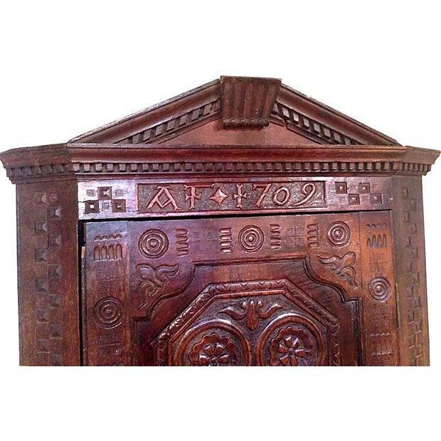 1709 Carved English Corner Cabinet - Image 3 of 4