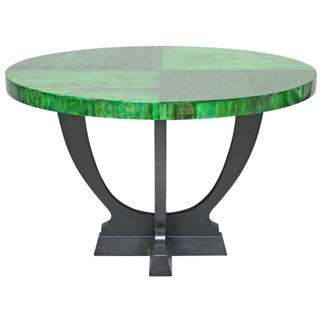 Green Papaya Dining or Center Table by Serge De Troyer, Belgium, 2018 For Sale - Image 8 of 8