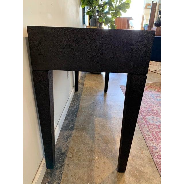 Black Made Goods Black Faux Shagreen Desk For Sale - Image 8 of 9