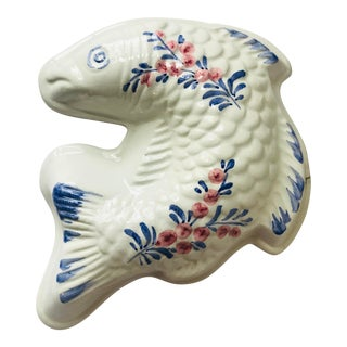 Vintage Late 20th Century Italian Decorative Ceramic Mold of Fish For Sale