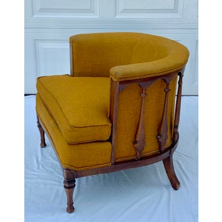 Vintage Mid Century Maxwell Royal Upholstered Barrel Chair Preview