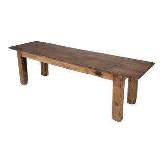 Antique French Country Farm or Industrial Dining Table For Sale