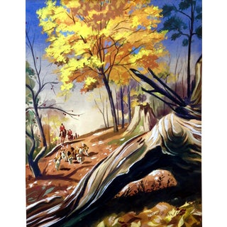 """Conrad Moulton """"The Fox Hunt"""" Giclee Print of the Painting For Sale"""
