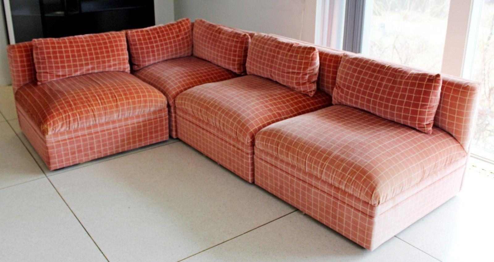 Superb Mid Century Modern Large Baughman Directional 9 Piece Sectional Sofa 1970s    Image 4 Of 11