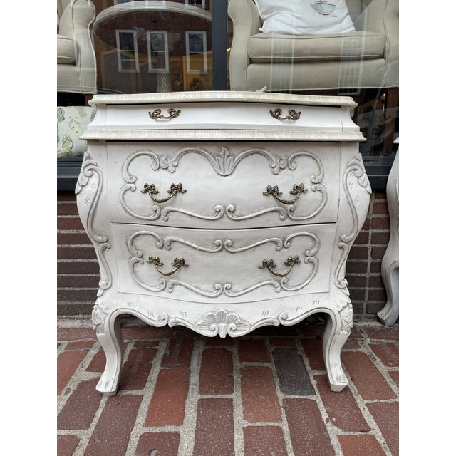 This is a beautiful pair of vintage chests. They are vintage and hand-painted with a beautiful design. The chests are...