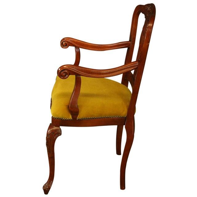 Italian Rococo Arm Chair with Inlaid Marquetry - Image 7 of 8