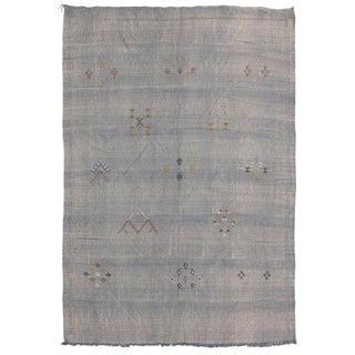 Vintage Cactus Silk Vintage Moroccan Kilim Rug